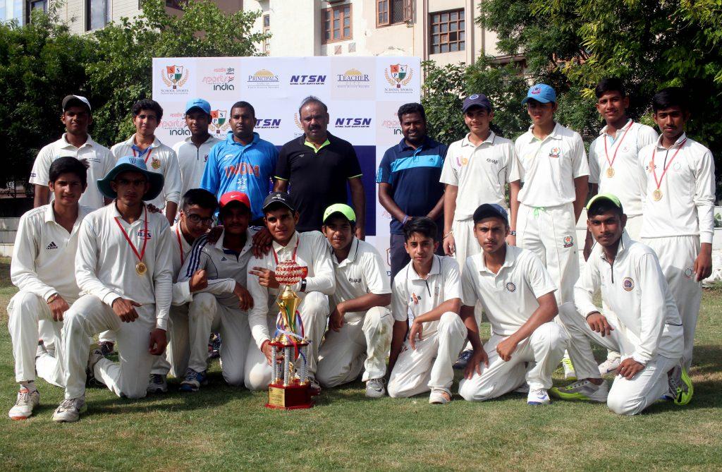 The Delhi team which won the NTSN cricket title